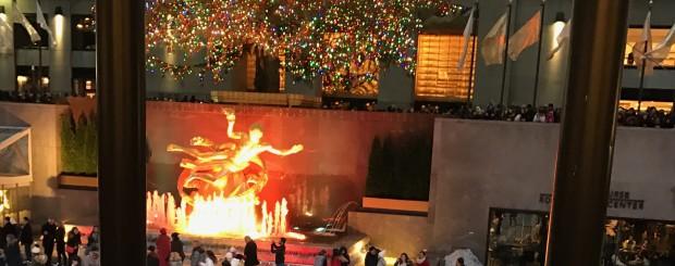Rockefeller Center during Christmas season
